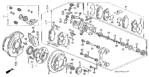 2000 INTEGRA LS 3 DOOR 5MT REAR BRAKE (DISK) (1) diagram