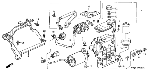 1994 INTEGRA LS 3 DOOR 5MT ABS MODULATOR (1) diagram