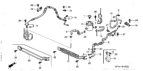 2001 INTEGRA LS 3 DOOR 5MT P.S. HOSES - PIPES diagram