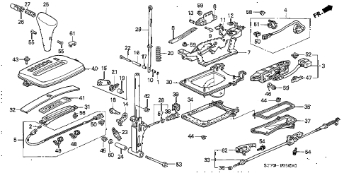 1998 INTEGRA RS 3 DOOR 4AT SELECT LEVER diagram