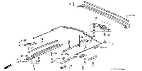 1996 INTEGRA LS 3 DOOR 5MT ROOF MOTOR diagram