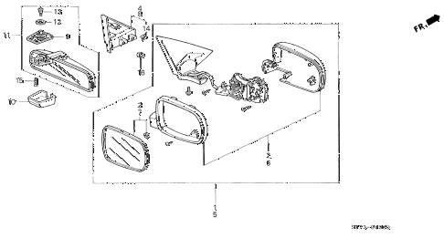 1994 INTEGRA LS 3 DOOR 4AT MIRROR (1) diagram