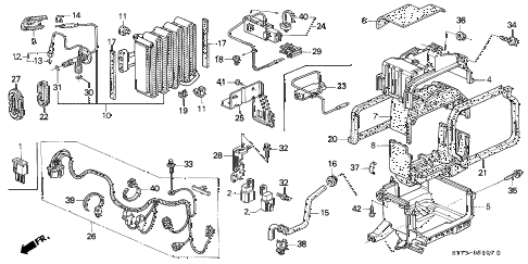 1996 INTEGRA RS 3 DOOR 5MT A/C UNIT (1) diagram