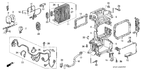1998 INTEGRA GS-R 3 DOOR 5MT A/C UNIT (2) diagram