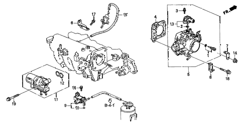 2001 INTEGRA LS 3 DOOR 5MT THROTTLE BODY (3) diagram