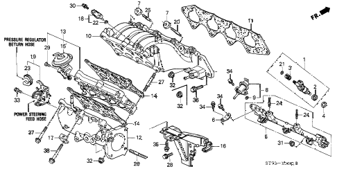 1994 INTEGRA GS-R 3 DOOR 5MT INTAKE MANIFOLD (2) diagram