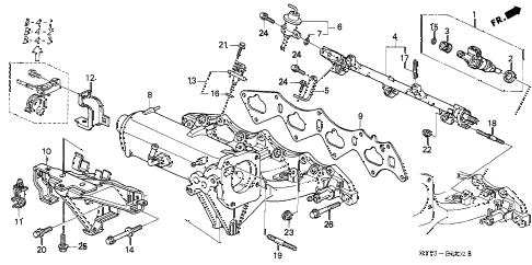 2001 INTEGRA TYPE-R 3 DOOR 5MT INTAKE MANIFOLD (3) diagram
