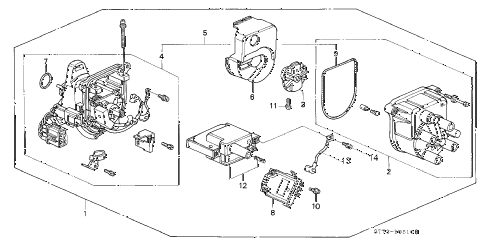 1995 INTEGRA LS 3 DOOR 4AT DISTRIBUTOR (TEC) diagram