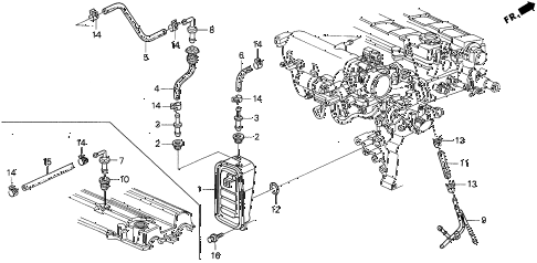 1999 INTEGRA RS 3 DOOR 5MT BREATHER CHAMBER (1) diagram