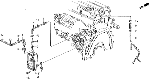 1997 INTEGRA GS-R 3 DOOR 5MT BREATHER CHAMBER (2) diagram
