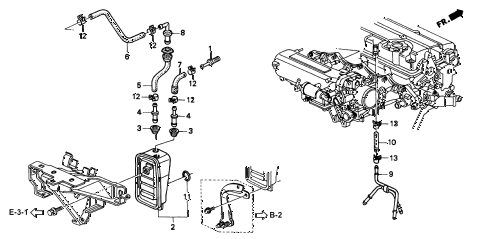 2000 INTEGRA TYPE-R 3 DOOR 5MT BREATHER CHAMBER (3) diagram