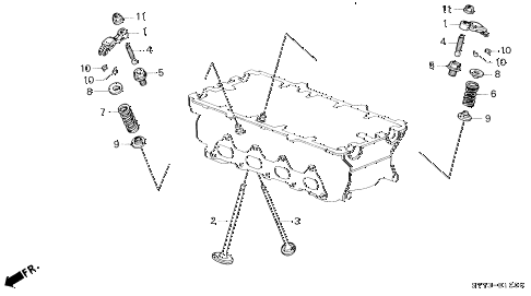1999 INTEGRA LS 3 DOOR 5MT VALVE - ROCKER ARM (1) diagram