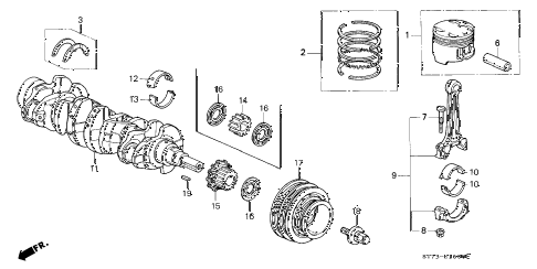 1999 INTEGRA RS 3 DOOR 5MT CRANKSHAFT - PISTON diagram