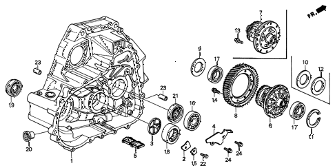 1998 INTEGRA LS 3 DOOR 5MT MT CLUTCH HOUSING diagram