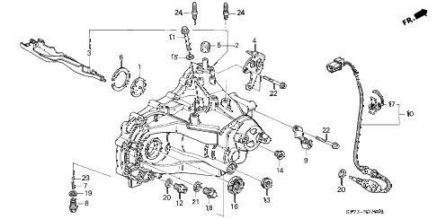 1995 INTEGRA GS-R 3 DOOR 5MT MT TRANSMISSION HOUSING diagram