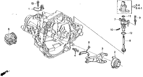 1997 INTEGRA LS 3 DOOR 5MT MT CLUTCH RELEASE diagram