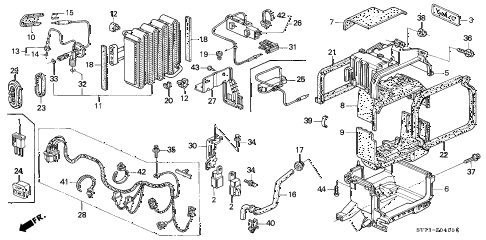 1994 INTEGRA RS 3 DOOR 5MT A/C UNIT (3) diagram