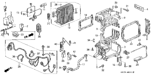 1998 INTEGRA RS 3 DOOR 4AT A/C UNIT (4) diagram