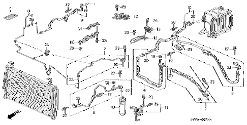 1994 INTEGRA RS 3 DOOR 5MT A/C HOSES - PIPES (2) diagram