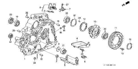 1996 INTEGRA LS 4 DOOR 4AT AT TORQUE CONVERTER HOUSING (1) diagram
