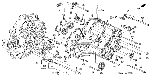 1995 INTEGRA LS 4 DOOR 4AT AT TRANSMISSION HOUSING (1) diagram