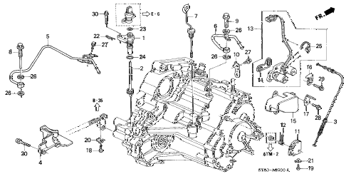 1995 INTEGRA LS 4 DOOR 4AT AT SPEEDOMETER GEAR diagram