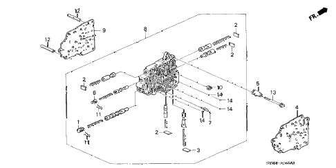 1995 INTEGRA LS 4 DOOR 4AT AT SECONDARY BODY (1) diagram