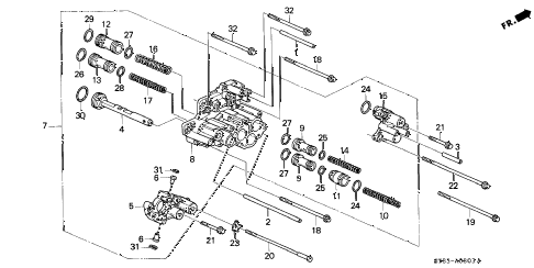 1996 INTEGRA LS 4 DOOR 4AT AT SERVO BODY (1) diagram