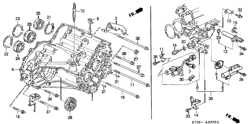 2001 INTEGRA LS 4 DOOR 4AT AT TRANSMISSION HOUSING (2) diagram