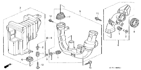 1994 INTEGRA LS 4 DOOR 4AT RESONATOR CHAMBER (1) diagram