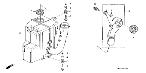 1997 INTEGRA GS-R 4 DOOR 5MT RESONATOR CHAMBER (2) diagram