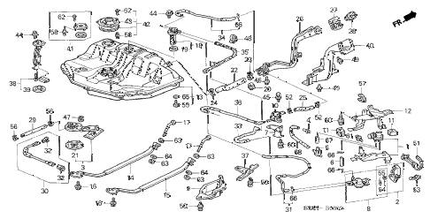 1998 INTEGRA LS 4 DOOR 4AT FUEL TANK (3) diagram