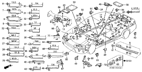 1994 INTEGRA LS 4 DOOR 4AT WIRE HARNESS diagram