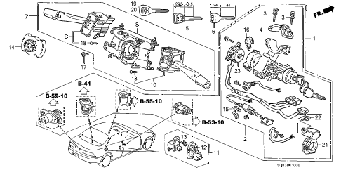 1997 INTEGRA LS 4 DOOR 4AT COMBINATION SWITCH diagram