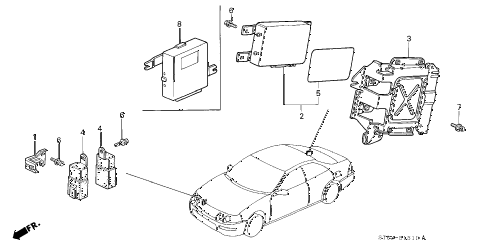 1998 INTEGRA GS-R 4 DOOR 5MT ABS UNIT diagram