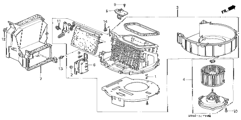 2000 INTEGRA LS 4 DOOR 5MT HEATER BLOWER diagram