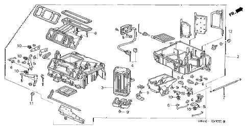 1996 INTEGRA GS-R 4 DOOR 5MT HEATER UNIT diagram