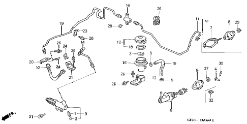 1994 INTEGRA LS 4 DOOR 5MT CLUTCH MASTER CYLINDER diagram