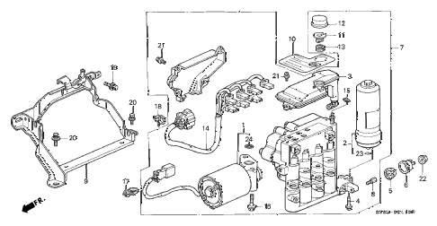 1994 INTEGRA GS-R 4 DOOR 5MT ABS MODULATOR (1) diagram