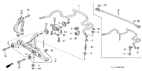 1998 INTEGRA GS-R 4 DOOR 5MT FRONT LOWER ARM diagram
