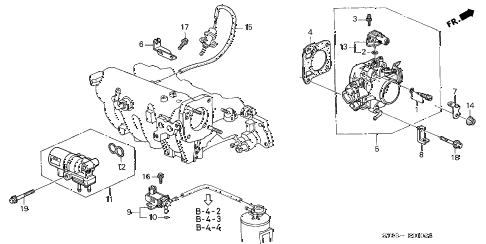 2000 INTEGRA LS 4 DOOR 5MT THROTTLE BODY (3) diagram
