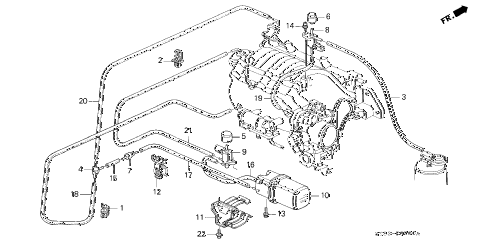 1995 INTEGRA GS-R 4 DOOR 5MT VACUUM TANK - TUBING (1) diagram