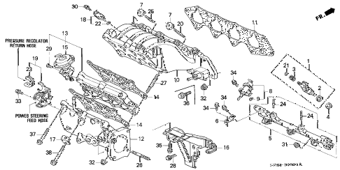 1995 INTEGRA GS-R 4 DOOR 5MT INTAKE MANIFOLD (2) diagram