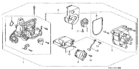 1995 INTEGRA LS 4 DOOR 4AT DISTRIBUTOR (TEC) diagram