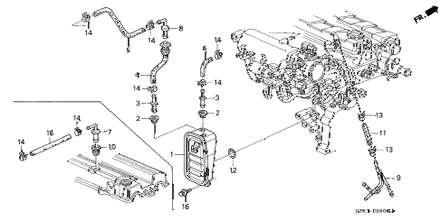 2001 INTEGRA LS 4 DOOR 4AT BREATHER CHAMBER (1) diagram