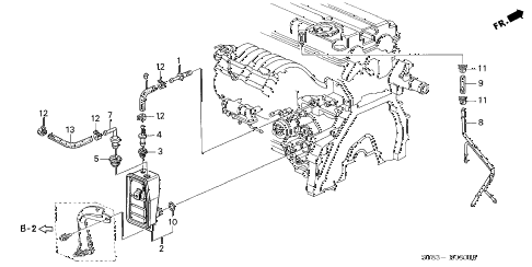 1996 INTEGRA GS-R 4 DOOR 5MT BREATHER CHAMBER (2) diagram
