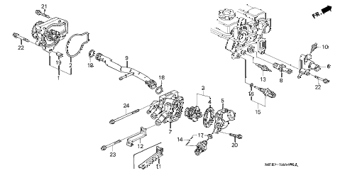 1994 INTEGRA RS 4 DOOR 5MT WATER PUMP - SENSOR (1) diagram