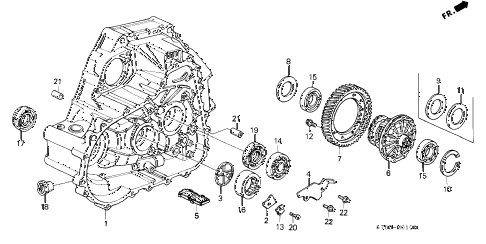 1994 INTEGRA LS 4 DOOR 5MT MT CLUTCH HOUSING diagram