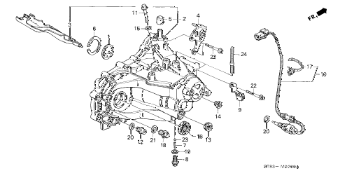 1995 INTEGRA RS 4 DOOR 5MT MT TRANSMISSION HOUSING diagram
