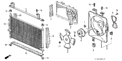 1996 INTEGRA RS 4 DOOR 5MT A/C CONDENSER (2) diagram